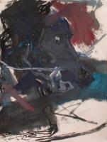 Öl, Ölkreide auf Papier | 61 x 51 cm