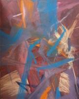 Acryl, Pastellkreide auf Leinwand | 100 x 80 cm