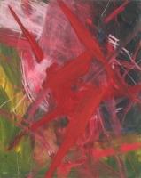 Acryl, Öl, Pastellkreide auf Leinwand | 100 x 80 cm