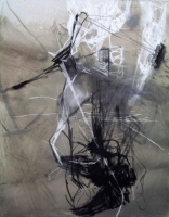 Öl, Pastellkreide auf Leinwand | 100 x 80 cm