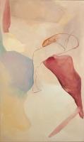 2015, Acryl und Pastellkreide auf Leinwand, 200 x 119 cm cm