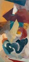 2015 | Acryl und Pastellkreide auf Leinwand | 150 x 70 cm